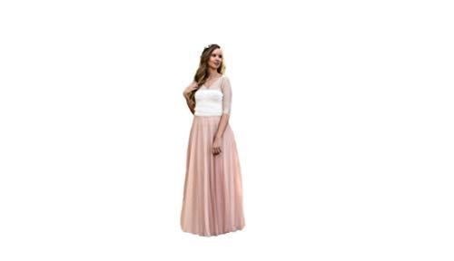 Vestido de Novia a Medida Traje de Boda Mujer Largo de Tul Romántico para Boda Civil o Religiosa