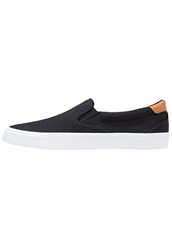 YOURTURN Loafer Herren Schwarz, Slip On Canvas Sneakers, 42 (Loafer Canvas)