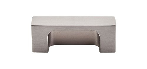 Brushed Satin Nickel Appliance (Top Knobs TK275 Modern Metro Series 2 inch Center Cup Pull, Brushed Satin Nickel by Cabinet Handles/Pulls)