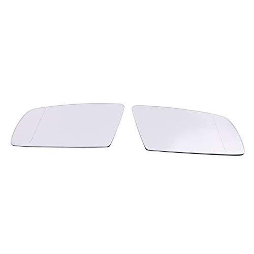 ELENXS Droite Gauche Verre côté rétroviseur Remplacement Blanc pour E60 E61 04 08