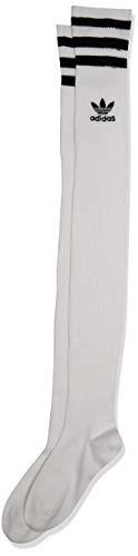 adidas Originals Damen Originals Over The Knee Thigh High Socks (1-Pack) weiß/schwarz, Medium (Shoe Size 5-10)