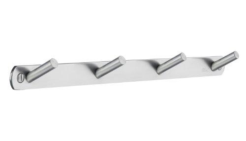 Beslagsboden cuádruple Perchero de Perfil de Acero Inoxidable Cepillado, Plata, 310mm
