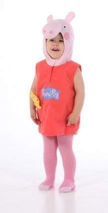 Kostüm Kinder: Peppa Pig mit Teddy, 3–5Jahre