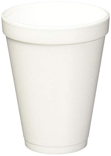 12 Oz White Foam Cups (DRINK 12J12 Schaumstoffbecher, 340 ml, 25 Beutel / 40 Beutel)