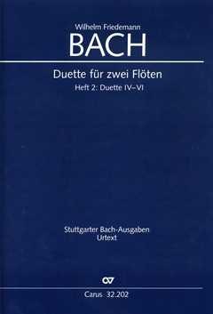 W. F. Bach: Duette für zwei Flöten. Partitur