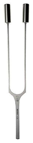Riester 5163 Stimmgabel, Stahl mit Gewichten in Polybeutel, C -1 32 Hz