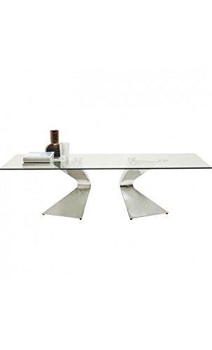 Kare Design Table basse design en verre et chrome GLORIA
