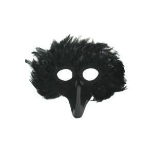 Black Bird Feather Mask Accessory