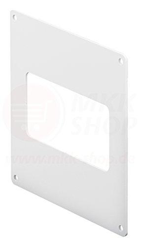 MKK Wandflansch Montageplatte 75 x 150 mm Kunststoff Lüftungskanal Flachkanal Rohr PVC Kanal Wand -