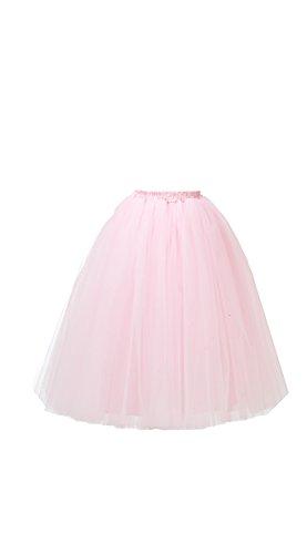 Honeystore Damen's Lang Ballet Petticoat Abschlussball Party Zubehör Tutu Unterkleid Rock Rosa (Mädchen Halloween Billig Diy Kostüme)