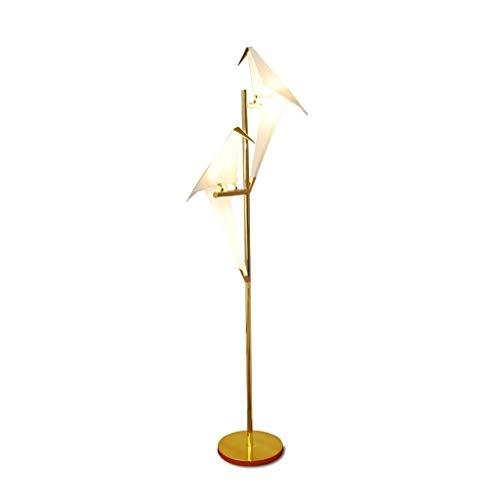 Moderne Stehleuchte Vogel Papier Stehlampe Wohnzimmer-Zimmer-Lampe Stand Art Deco Origami Licht Study Nachtlesetisch Fußboden-Licht Hauptweihnachtsromantisches Atmosphärengeschenk ( Farbe : Double ) -
