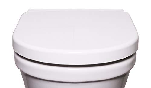 Bullseat 3 WC Sitz weiß • passend zu Duravit Starck 2/3 • Absenkautomatik/Softclose • abnehmbar • click n\' clean • Toilettendeckel überlappend • Klobrille • hochwertiges Duroplast