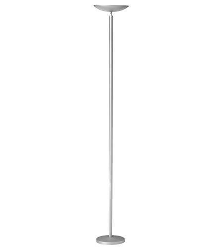 Unilux First Lampadaire Halogène 5060 Lumens à Variation d'intensité Lumineuse - Tube Halogène inclu 230W RS7 180 x 25 cm Gris métal
