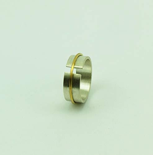 Ring aus Silber und Gold