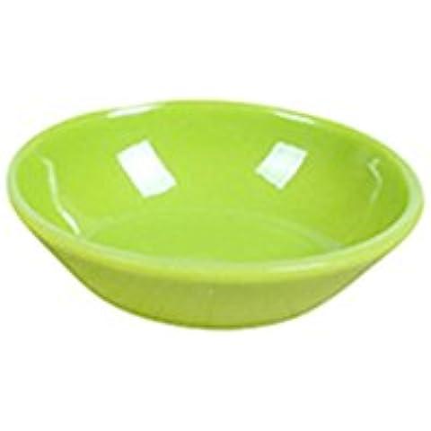 Hosaire 1X Piatto Da Portata Ovale acrilico Colore Bianco,Plastica rigida, utensili da cucina,verde,S