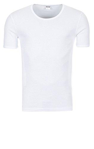 Yazubi 3er, 2er oder 1er Pack Slim Fit Basic Herren T-Shirt mit Rundhalsausschnitt 2er Pack weiß (1002)