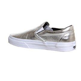 Vans U Classic Slip-on Overwashed, Unisex-Erwachsene Sneakers Silberfarben metallisch