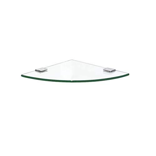 Drei-tier-glas Badezimmer Regal (DNSJB Regal aus gehärtetem Glas, Eckrahmen für Badezimmer, 7 mm starker dreieckiger Rahmen für die Wandmontage, mit Badregalglas für 1/2/3-Ebenen (Color : 2 Tier, Size : 30cm/11.8''))