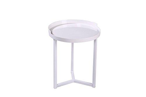 Maison du Design 'Table de café, Table de café Dionysos, Plan : Blanc, Pieds : Blanc