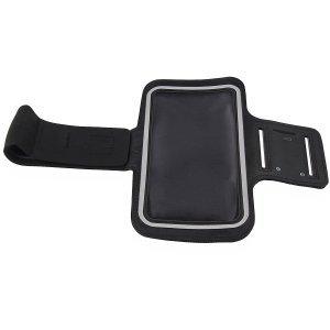 Trendy8 Sports Armband Case für Sony Xperia Z Ultra ZU Size XXXL Sportarmband Tasche Sport Schutzhülle Farbe Schwarz Grau Color Black Grey