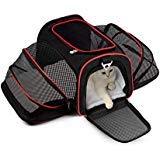 YDBAG Transporttasche für Kleine Hunde und Katzen, erweiterbar, weich, von Airline genehmigt, Größe M, mit Fleece-Matte - Erweiterbar Aufrecht Tasche