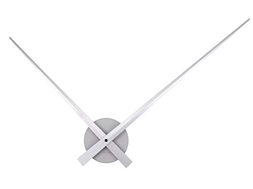 Present Time UK Little Big Time Uhr, Wanduhr, Aluminium, Silber, One Size