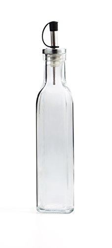 Acero inoxidable 304 acero inoxidable a prueba de fugas botella de aceite vinagre olla contenedor de aceite comestible olla con precisi/ón Boquilla Dispensador de aceite de oliva 1.000 ml Plateado