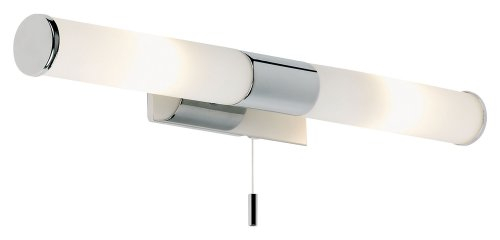 Endon Modern Chrome IP44 Bathroom Wall / Mirror Light Fitting with Pull Switch, Romford EL-257-WB