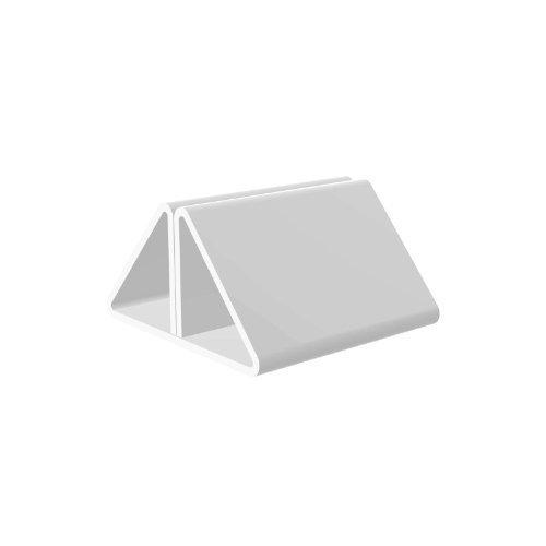 Soporte acrílico para etiquetas, disponible en muchos tamaños y colores -, color blanco
