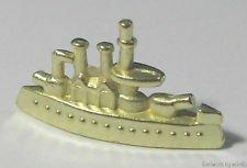 Monopoly Klassik Limited Edition goldene Bonus Schlachtschiff-Spielfigur