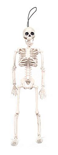 Sodhue Halloween Dekoration Kunststoff Lebensechte Menschliches Skelett Skull 0.4 meters Monster Prisoner Ghost Skeleton Perfekte Halloween Bar Party Deko Requisiten