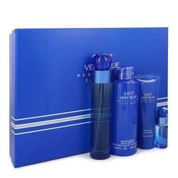 Perry Ellis 360 Very Blue Gift Set By Perry Ellis - 3.4 oz -