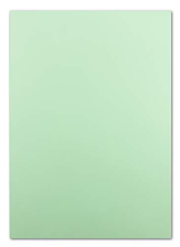 50 DIN A4 Papier-bögen Planobogen -mintgrün - 240 g/m² - 21 x 29,7 cm - Ton-Papier Fotokarton Bastel-Papier Ton-Karton - FarbenFroh®