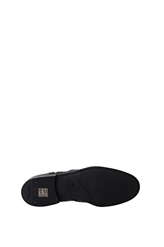 DE0001BLACKLIGHTBUR Church's Derby Femme Cuir Noir Noir