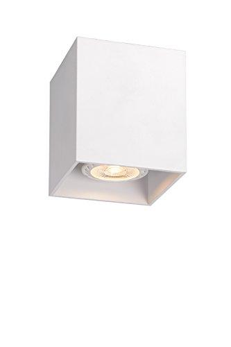 Lucide BODI 09101/01/31 - Plafoniera quadrata, GU 10, 8 x 9,5 cm, colore bianco