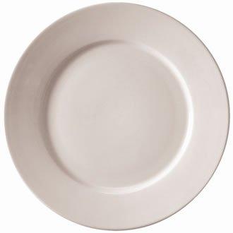 Athena Hotelware Lot de 12assiettes de service à larges bords en porcelaine Blanc 165mm