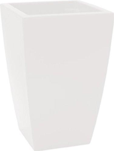 HOWE-Deko Pot de Fleurs, Angle, L30 x H43 x P30 cm, Blanc (diverses Couleurs au Choix), Brillante, capacité de 27 litres, pour intérieur et extérieur, Fait de Haute qualité polyéthylène