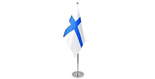 gizzy-r-finlande-9-x-6-cm-drapeau-de-table-en-satin-avec-perche-telescopique-et-base-chrome