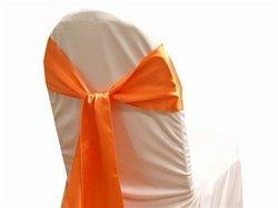 eds 50Satin Stuhl, Schleife Band Schärpen Hochzeit Bankett Décor mehr als 30Farbe Orange Round Table Cover Hochzeit