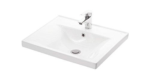 VE.CA. Lavabo ad Incasso Sava 55 in Ceramica Bianca di Alta qualità - arredo Bagno mensola lavabo casa