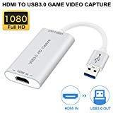 If-link appareils de capture vidéo HDMI vers USB 3.0 Full HD 1080p vidéo en direct Capture Jeu Capture d'enregistrement Box HDMI USB 3.0 adaptateur vidéo et audio Grabber pour Windows