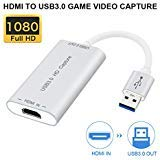 if-link Video Capture-Geräte HDMI zu USB 3.0 Full HD 1080P Live Videoaufnahme Game Capture Aufnahme Box HDMI USB 3.0 Adapter Video & Audio Grabber für Windows, Mac OS X und Linus System (Splitter) 01-video-capture