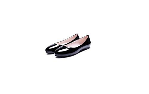 Beauqueen Pumps Loafers Frauen Frühling und Sommer flache Plain weibliche runde Zehe weiß rot schwarz rosa Freizeit Freizeitschuhe Europa Größe 31-52 , red , 52 (not returned)