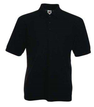Fruit of the Loom - Polo-Shirt 'Piqué Polo 65/35' schwarz,XXL Schwarz,XXL (Kurzarm-nackenband)
