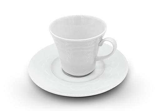 Kütahya Porselen Athena 12tlg Set für Türkischen-Kaffee, Mokka-Espresso-Tassen, Kaffeeservice, Weiß, aus Pozellan