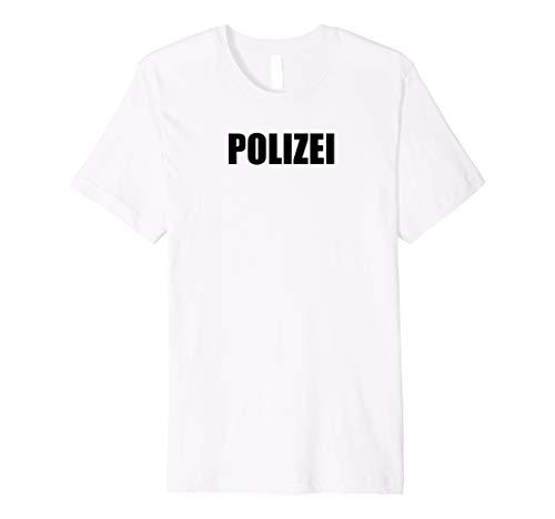 Polizei T-Shirt Herren Damen Kinder Polizei-Kostüm Karneval (Top 100 Kostüm Für Paare)