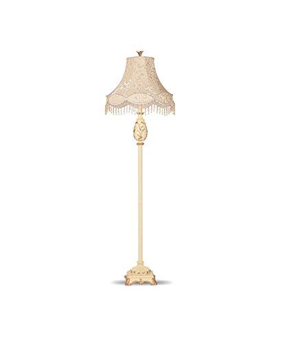 GUORONG Europäische Stehlampe Wohnzimmer vertikale Studie Schlafzimmer Kopfteil Creme Farbe Fußschalter E27 Einstellbare Höhe abnehmbar Mit Schalter Stehlam -