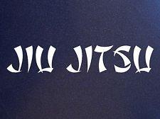 SUPERSTICKI® Jiu Jitsu MMA Aufkleber Decal Hintergrund/Maße in inch Vinyl Sticker|Cars Trucks Vans Walls Laptop|White |7.5 x 1.5 in|CCI405 -