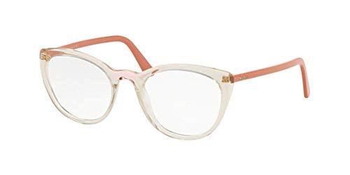 Prada PR 7 VV 3261O1 Brille/Brille, transp/pink transp, Braun