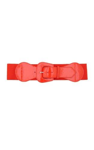 BlackButterfly 3 Zoll breite große Schnalle des elastischen Taillengurtes (Rot, EUR 38-46)
